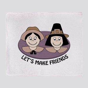 Lets Make Friends Throw Blanket